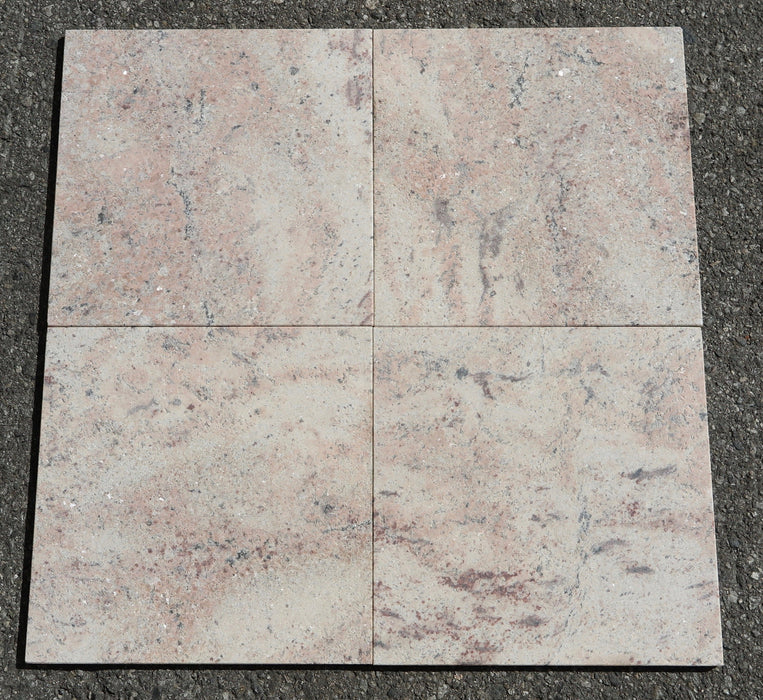 "Sandblasted Raja Pink Granite Tile - 12"" x 12"" x 3/8"""
