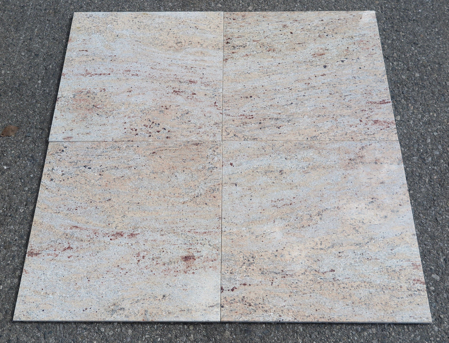 "Polished Raja Pink Granite Tile - 18"" x 18"" x 1/2"""