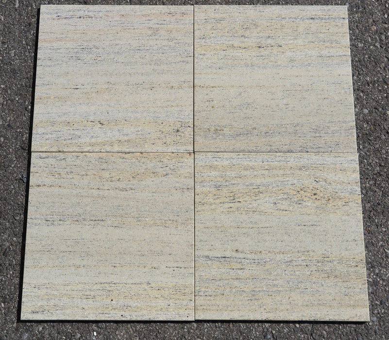 "Polished Rare Ivory Granite Tile - 12"" x 12"" x 5/16"""