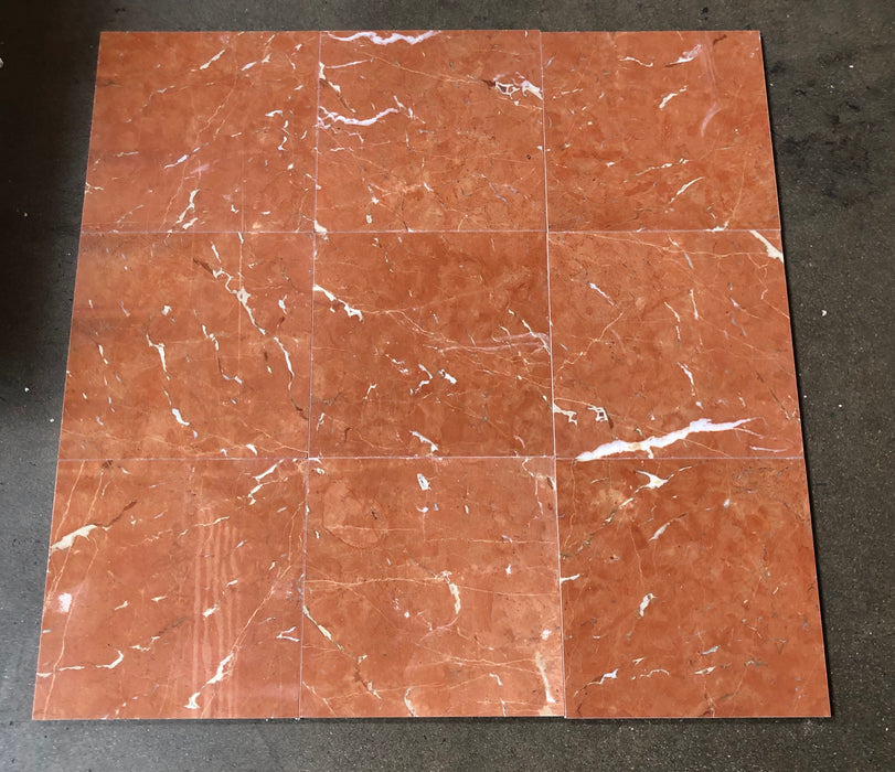 "Rojo Alicante Marble Tile - 12"" x 12"" x 3/8"" Polished"