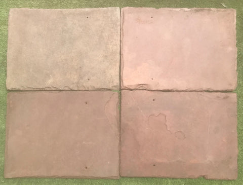 "Sienna Red Natural Cleft Face & Back Roof Tile - 12"" x 16"" x 1/4"""