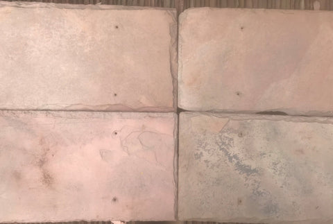 "Sienna Red Natural Cleft Face & Back Roof Tile - 8"" x 16"" x 1/4"""