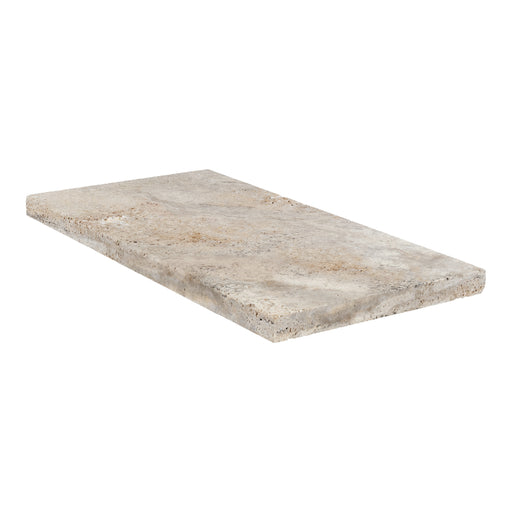 "Scabos Travertine Coping - 12"" x 24"" x 3 CM Honed"