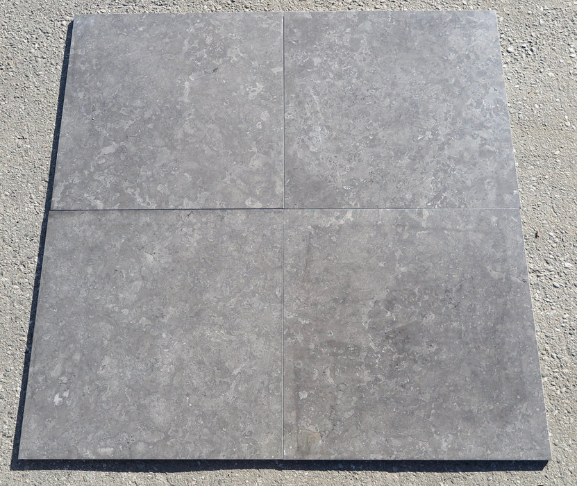"Polished Sicilian Grey Marble Tile - 18"" x 18"" x 3/8"""