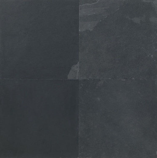 Brazil Black Slate Tile - Natural Cleft Face, Gauged Back