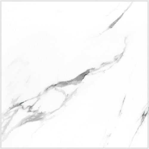 "Statuario Extra Moderne White Porcelain Tile - 24"" x 24"" x 3/8"" Polished"