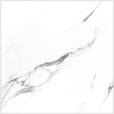 "Statuario Porcelain Tile - 24"" x 24"" x 3/8"" Polished"