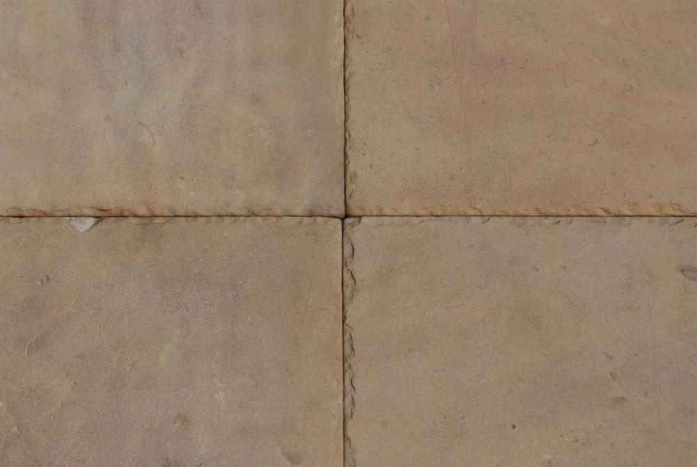 "Sunflower Limestone Tile - 12"" x 12"" x 3/8"" Chiseled & Tumbled"