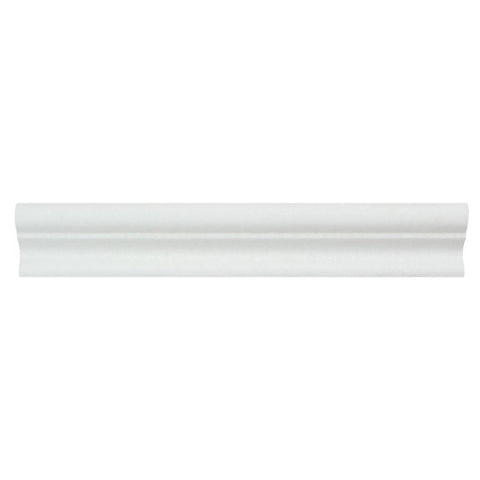 "Thassos White Marble Molding - 2"" x 12"" Crown (Mercer) Molding Polished"