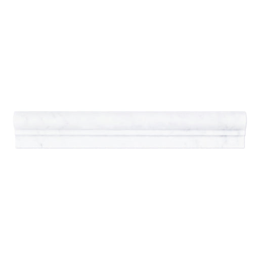 "Thassos White Marble Liner - 2"" x 12"" F1 Chair Rail"