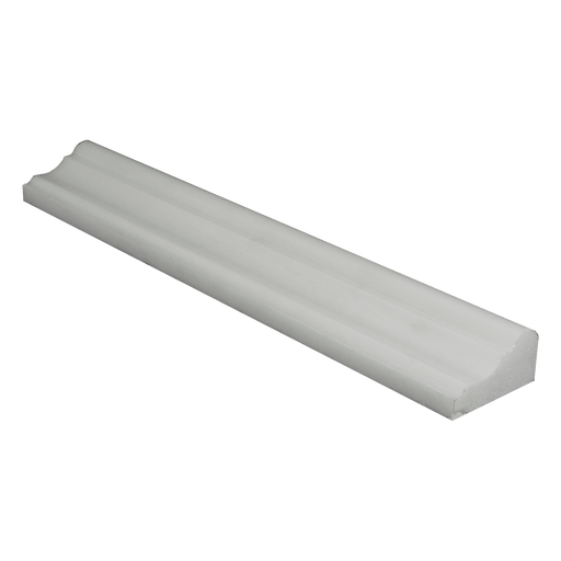 "Thassos White Marble Liner - 2"" x 12"" F5 Chair Rail Polished"