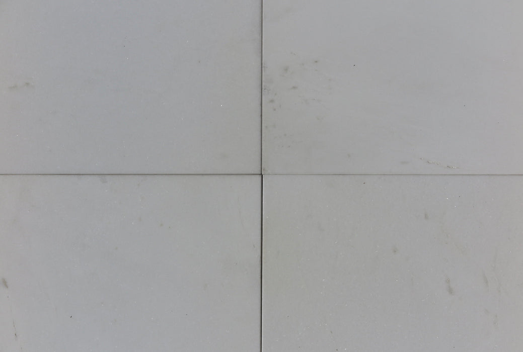 "Polished Thassos White Standard Marble Tile - 18"" x 18"" x 3/8"""