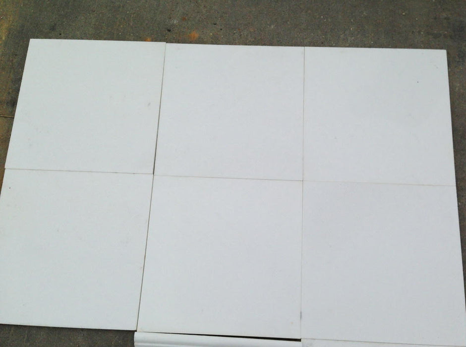 "Thassos White Extra Marble Tile - 12"" x 12"" x 3/8"" Polished"