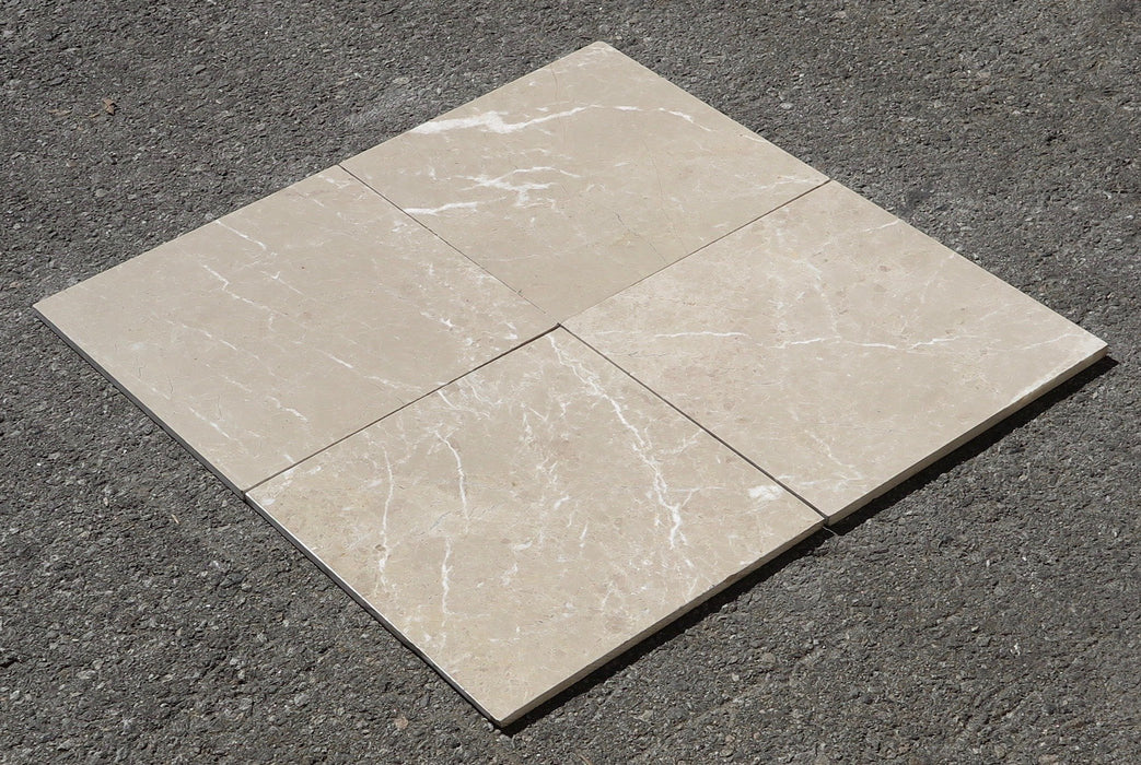 "Polished Verona Light Marble Tile - 12"" x 12"" x 3/8"""