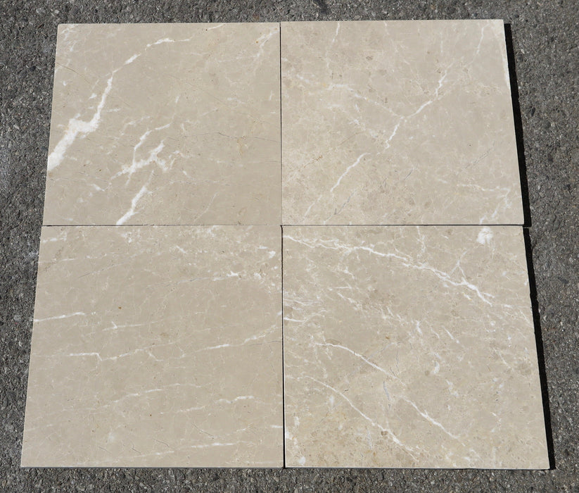 "Verona Light Marble Tile - 12"" x 12"" x 3/8"""
