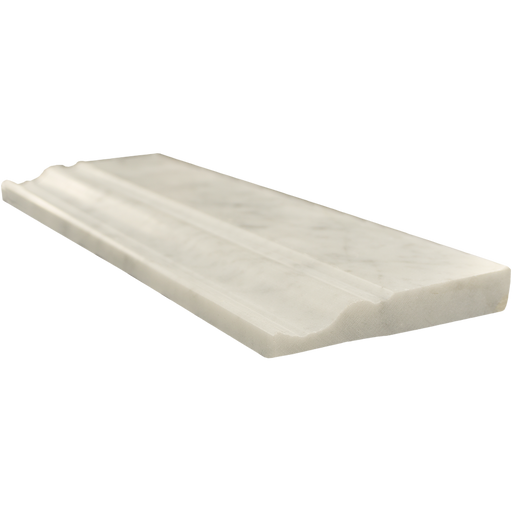 "White Carrara Marble Baseboard - 4"" x 12"" Polished"