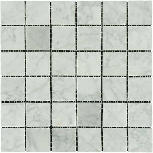 "White Carrara Marble Mosaic - 2"" x 2"" Polished"