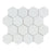 "Thassos White Marble Mosaic - 3"" Hexagon Polished"