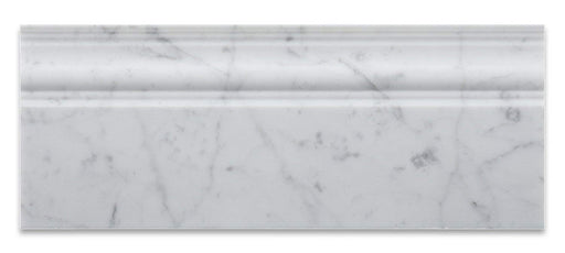 "White Carrara Marble Baseboard - 5"" x 12"" Polished"
