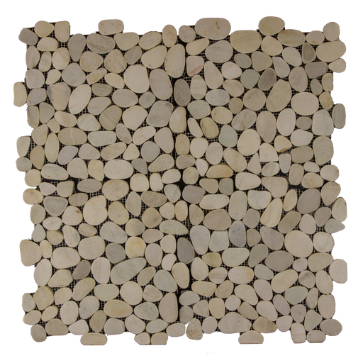 "White Marble Pebble - 12"" x 12"" Flat Matte"