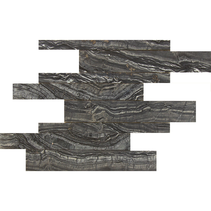 Black Forest Marble Mosaic - Cultured Brick Polished