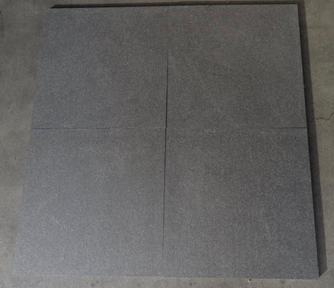 "Flamed Absolute Black Granite Tile - 24"" x 24"" x 5/8"""