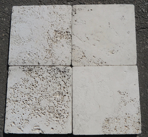 "Alabastrino Travertine Tile - 8"" x 8"" x 5/8"" Tumbled"
