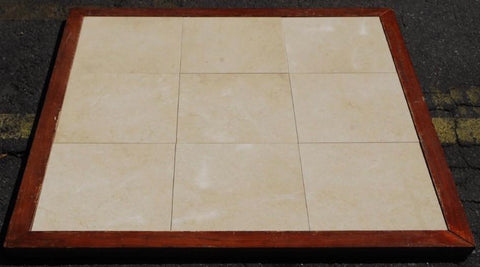 "Polished Antique Gold Limestone Tile - 12"" x 12"" x 3/4"""