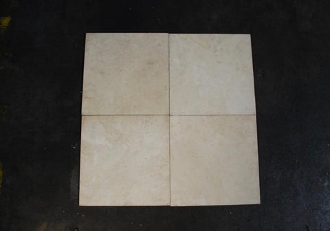 "Honed Apollonia Travertine Tile - 12"" x 12"" x 3/8"""
