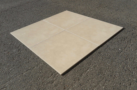 "Matte Artic Beach Porcelain Tile - 13"" x 13"" x 1/4"""