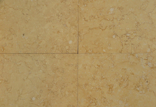 "Atlantic Gold Limestone Tile - 18"" x 18"" x 3/8"" Polished"