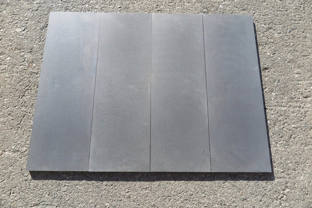 "Honed Basalt Dark Basalt Tile - 6"" x 18"" x 1/2"""