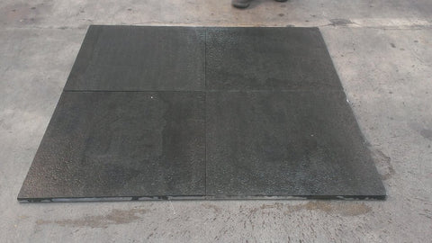 "Flamed & Brushed - Basalt Dark Basalt Tile - 24"" x 24"" x 3/4"""
