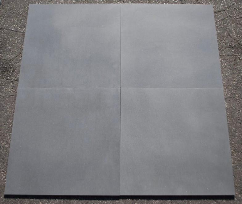 "Honed Basalt Grey Basalt Tile - 24"" x 24"" x 1/2"""