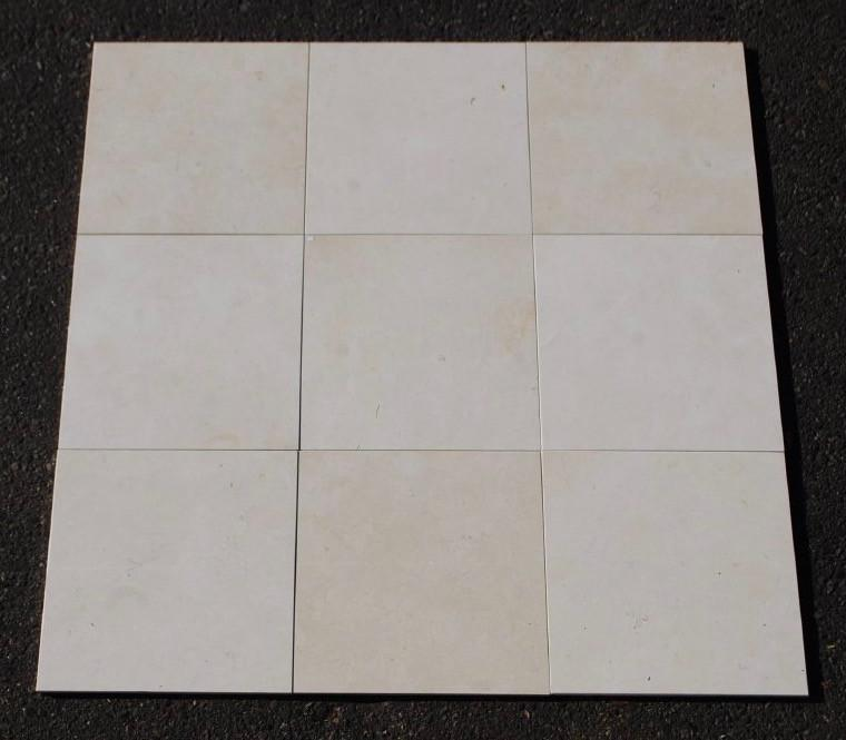 "Biancone Marble Tile - 12"" x 12"" x 3/8"" Polished"