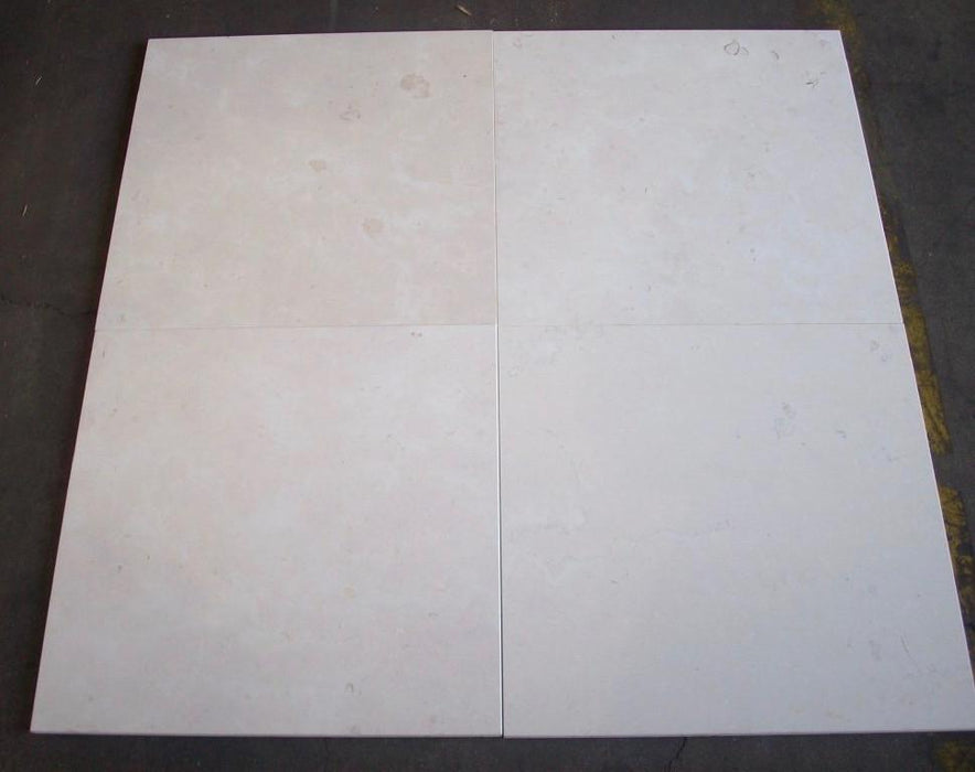 "Honed Biancone Marble Tile - 18"" x 18"" x 1/2"""