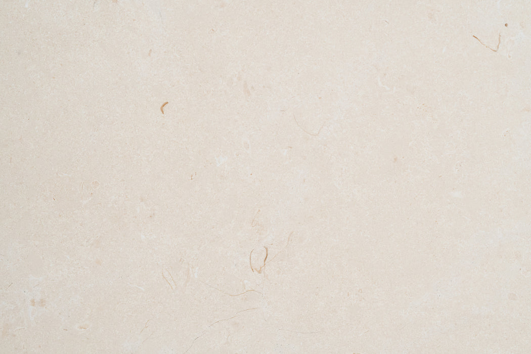 "Full Tile Sample - Biancone Marble Tile - 12"" x 12"" x 3/8"" Polished"