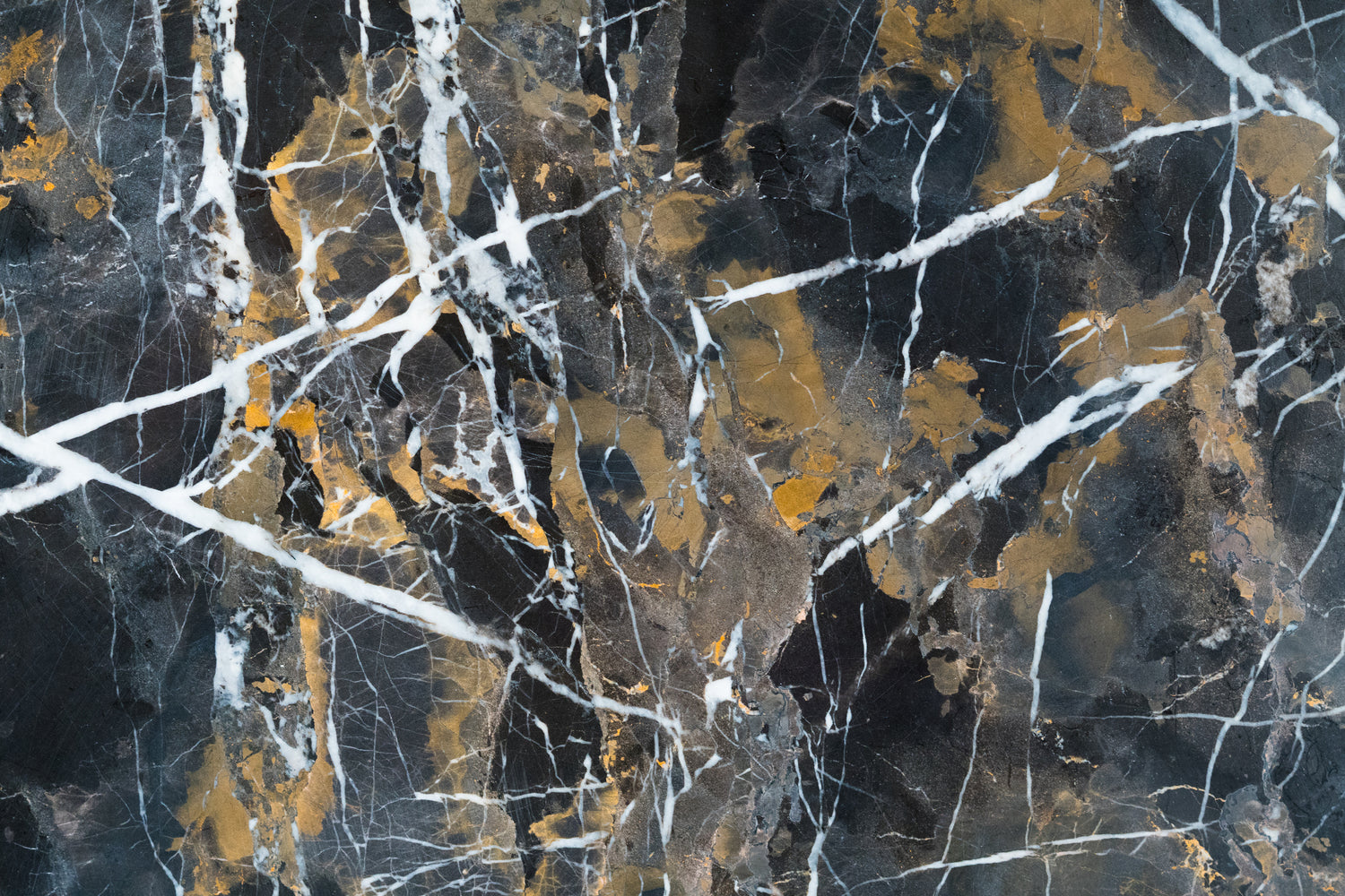 "Black & Gold Marble Tile - 12"" x 12"" x 3/8"" Polished"