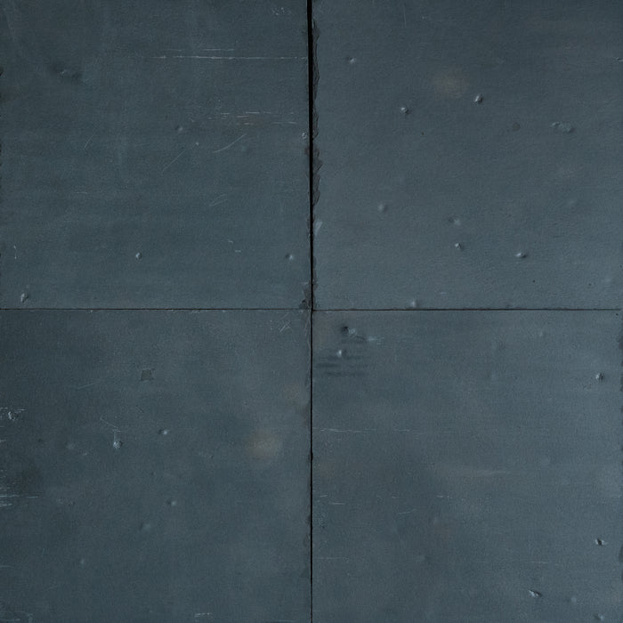 "Black Slate Slate Tile - 16"" x 16"" x 3/8"" - 1/2"" Natural Cleft Face, Gauged Back"