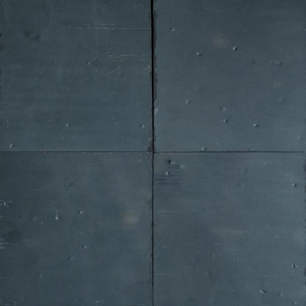 "Full Tile Sample - Black Slate Slate Tile - 24"" x 24"" x 1/2"" Natural Cleft Face, Gauged Back"