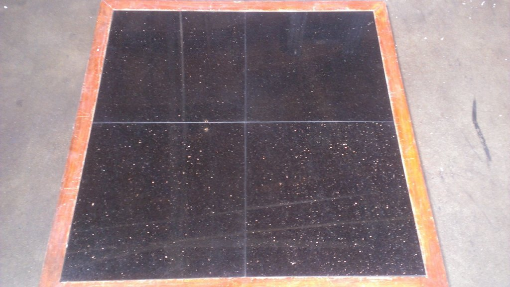 Polished Black Galaxy Granite Tile