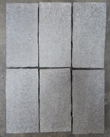 "Flamed Black Granite Granite Paver - 6"" x 12"" x 2"""