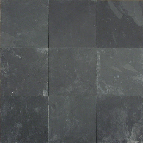 "Black Slate Slate Flagstone - Random Sizes x 3/4"" - 1"" Natural Cleft Face & Back"