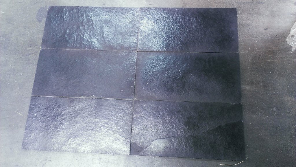 Brushed Black Stallion Limestone Tile