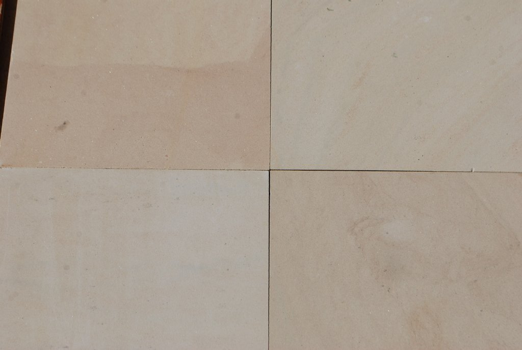 "Honed Buck Skin Sandstone Tile - 18"" x 18"" x 1/2"""