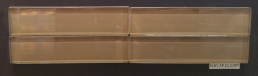 "Burlap Glass Tile - 1.8"" x 7.8"" x 1/2"" Glossy"