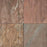 "Burnt Sienna Slate Tile - 12"" x 12"" x 3/8"" - 1/2"" Natural Cleft Face, Gauged Back"