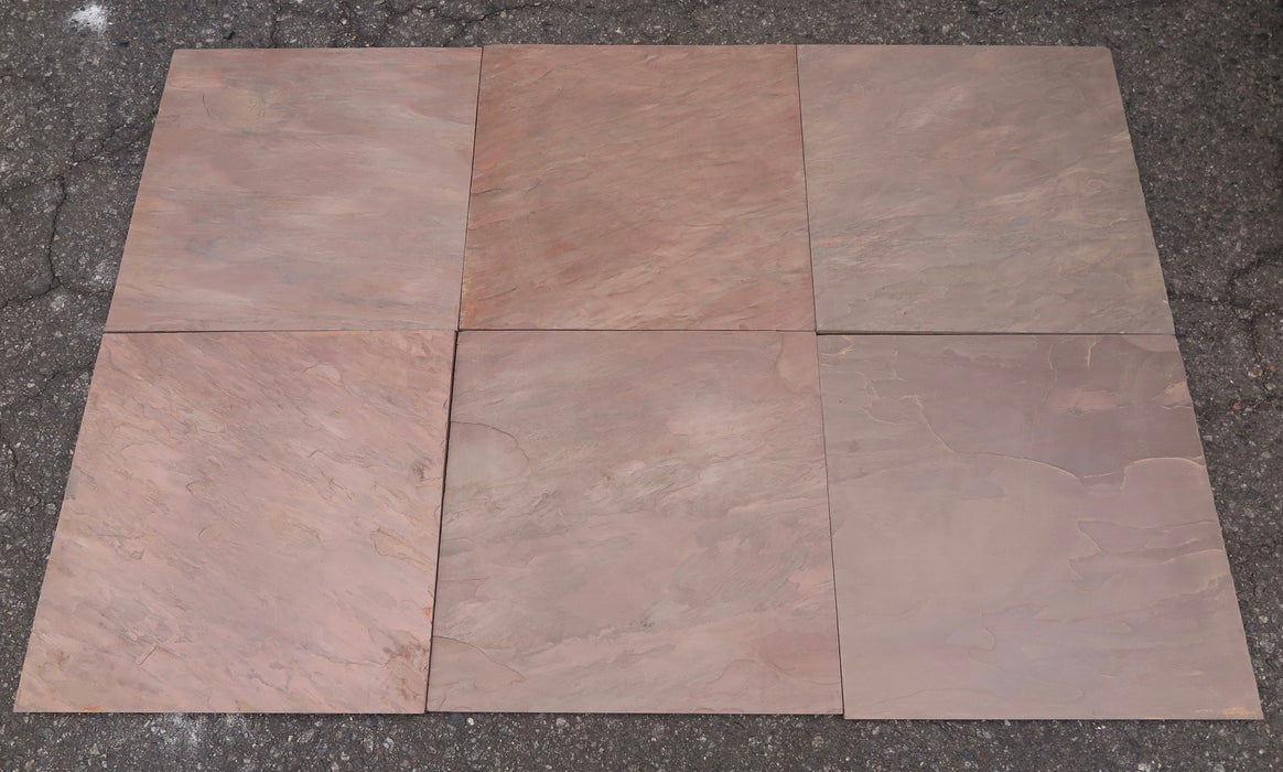"Burnt Sienna Slate Tile - 16"" x 16"" x 1/2"""