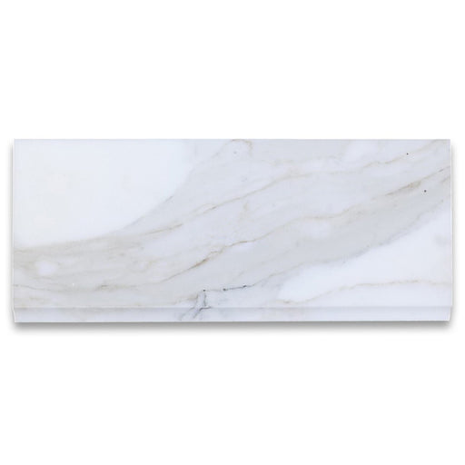 "Calacatta Gold Marble Baseboard - 5"" x 12"" Polished"