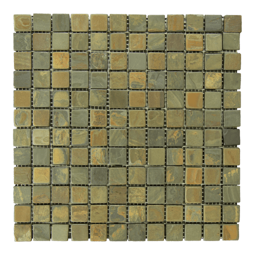 "California Gold Slate Mosaic - 1"" x 1"" Tumbled"